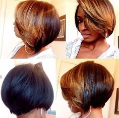 African American Women Hairstyles: Ombre Bob for Short Hair bob hairstyles african american relaxed hair Short Hair Styles Easy, Short Hair Cuts, Natural Hair Styles, African American Women Hairstyles, African Hairstyles, African Women, Hair Color African American, Short Hairstyles For African Americans, Highlights On African American Hair