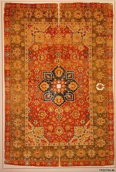 Silk Kashan Carpet (Object Name: Carpet Date: 16th century Geography: Iran, probably Kashan Culture: Islamic Medium: Silk (warp, weft and pile); asymmetrically knotted pile)