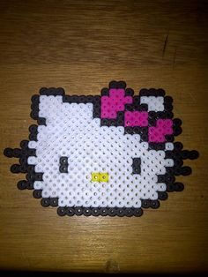 perler beads hello kitty. Somebody make me this!!!