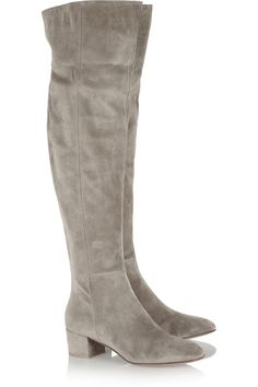 Gianvito Rossi|Suede over-the-knee boots|NET-A-PORTER.COM