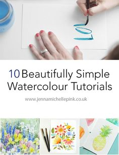 A round up of simple and easy watercolour tutorials - Jenna Michelle Pink Blog