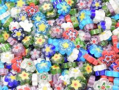 30 Glass Flowers, 9-12mm - Mosaic Tile Mania