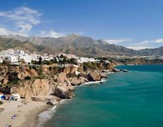Costa del Sol, Spain - i bought a beach towel here...and ate a very terrible burger on the beach.