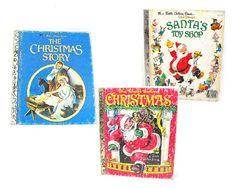 Little Golden Book Lot of 3 Vintage Christmas by AtticDustAntiques