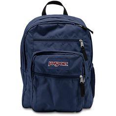 JanSport Big Student Navy ($46) via Polyvore featuring bags, jansport rucksack, backpacks bags, knapsack bags, day pack backpack and navy blue backpack