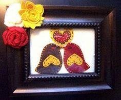 Love Birds in a Frame | AllFreeHolidayCrafts.com