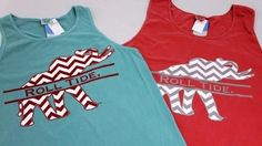 ROLL TIDE TANK TOP - chevron elephants? freaking adorable!