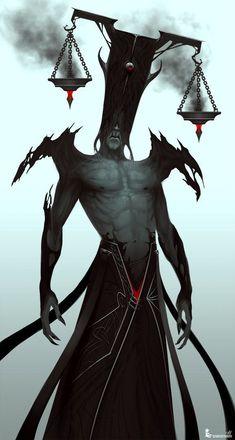 Blind Justice, Adam Duff on ArtStation Monster Concept Art, Fantasy Monster, Monster Art, Monster Design, Dark Fantasy Art, Fantasy Artwork, Dark Art, Fantasy Character Design, Character Design Inspiration