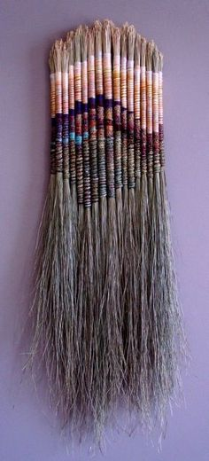 Fiber Sculpture - no link, but not difficult to recognize horsehair tightly wrap. - Art World Art Fibres Textiles, Textile Fiber Art, Tapestry Weaving, Loom Weaving, Weaving Projects, Nature Crafts, Fabric Art, Basket Weaving, Arts And Crafts