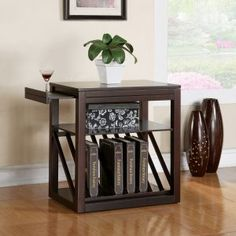 Steve Silver Jameson Rectangular Cherry Wood Chairside End Table - End Tables at Hayneedle