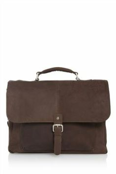 Signature Brown Leather Briefcase from Next