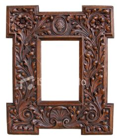 wooden carvings antique carved wood frame royalty free stock photo