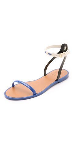 Tory Burch Leather Ankle Strap Jelly Sandals | SHOPBOP