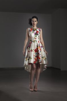 A beautiful, unique floral dress from Fely Campo! Perfect for a spring, summer or autumn wedding for a mother of the bride, mother of the groom or wedding guest! Frox of Falkirk, UK fashion.