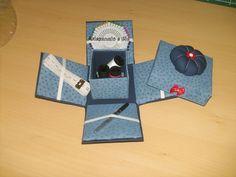 Caixinha de costura em cartonagem.