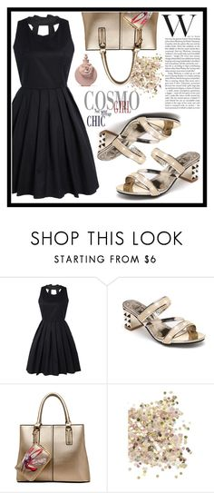 """""""Golden Style"""" by amra-sarajlic ❤ liked on Polyvore featuring Topshop"""