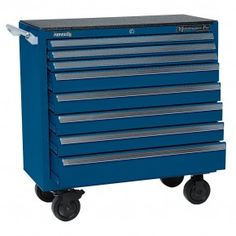 """Kennedy 3900mpbl 8-drawer Maintenance Pro 39"""" Maintenance Cart Classic Blue 