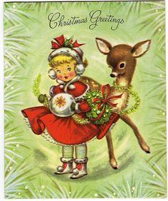 Vintage Christmas Card-1962. EEN HEEL BOARD VOL, EVEN KIJKEN ZOU IK ZEGGEN