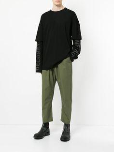 Juun.J cropped drawstring trousers