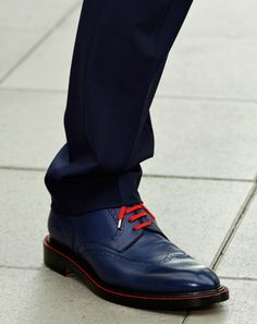 """Dior Homme -   """"The blue wingtips with red laces."""""""