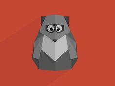 Origami racoon by Maren (#NIMIUS)