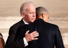 President Barack Obama hugs Vice President Joe Biden during funeral services for Biden's son, Beau Biden, Saturday, June at St. Anthony of Padua Church in Wilmington, Delaware - Yuri Gripas/Pool Photo via AP. Beau Biden, Joe Biden Son, Jill Biden, Black Presidents, Greatest Presidents, American Presidents, Presidents Usa, Michelle Obama, First Black President