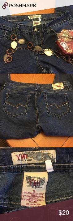 """YMI SKINNY jeans Size 9 $20 Like New  YMI Dark Skinny Jeans Size 9  Inseam 29 1/2 Waist 30"""" Like New $20 YMI Jeans Skinny"""