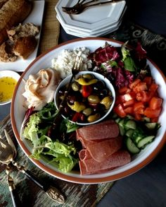 Family Style Mediterranean Salad by Tickled Red