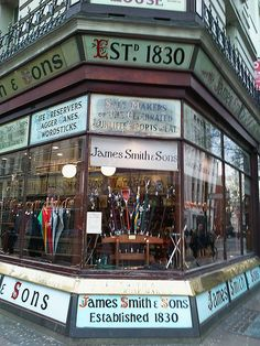 James Smith & Sons traditional umbrella shop in London