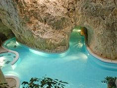 Thermal Baths Inside a Cave - Miskolc Tapolca, Hungary Cave Pool, Central And Eastern Europe, Heart Of Europe, Park Hotel, Budapest Hungary, Outdoor Pool, Traveling By Yourself, Beautiful Places, Amazing Places