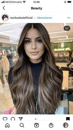 Brown Hair Balayage, Brown Blonde Hair, Light Brown Hair, Hair Color Balayage, Light Hair, Ombre Hair, Brunette Hair, Dark Hair With Highlights, Brunette Highlights