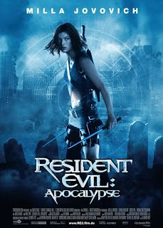 Resident Evil 2: Apocalypse (2004)  Δύο χρόνια μετά την πρώτη ταινία κυκλοφορεί το δεύτερο μέρος της μεταφοράς στη μεγάλη οθόνη του γνωστού videogame. Η ιστορία διαδραματίζεται σχεδόν αμέσως μετά το σημείο που είχε τελειώσει η πρώτη ταινία. Η εντολή που δίδεται να ξανανοίξει η Κυψέλη, έχει ως συνέπεια την άμεση μόλυνση ολόκληρου του Raccoon City.