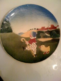 Vintage Hungarian Children's Decorative Plate of by MultiMidMod