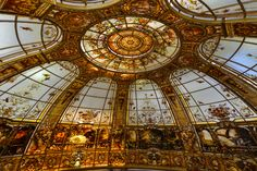 Stained glass dome by France Vitrail International http://www.ericbonte-maitreverrier.com/