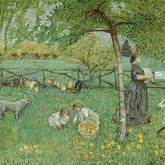 The Large Garden - Pierre Bonnard, 1895. Musée d'Orsay, Paris; gift of Jean-Claude Bellier in memory of his father, Alphonse Bellier, 1982, RF 1982-58