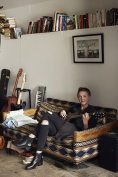 Laura Marling in her LA bedroom.
