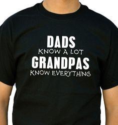 Grandpa Gift Grandpas Know T Shirt Mens t-shirt tshirt for Dad Awesome Dad Funny Tshirt Dad Gift by ebollo on Etsy