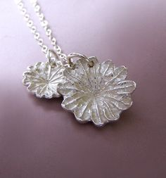 Poppy Necklace Sterling Silver by esdesigns on Etsy