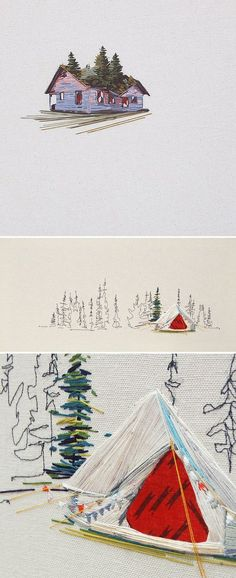 The most beautiful embroidery. I wish I could camp and live inside of them. By stephaniekclark1