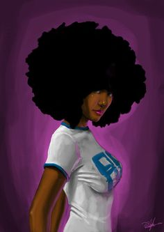natural hairstyles for black women, afro hair for African-American with…