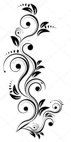 Descargue el vector de stock Elegancia, element, floral sin royalties 1132263 de la colección de millones de fotos, imágenes vectoriales e ilustraciones de stock de alta resolución de Depositphotos. Flower Tattoo Designs, Henna Designs, Flower Tattoos, Hand Embroidery Designs, Embroidery Patterns, Machine Embroidery, Muster Tattoos, Wood Burning Patterns, Floral Illustrations