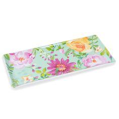 Kuchenplatte aus Porzellan, mit Blumenmotiven, BOHÈME