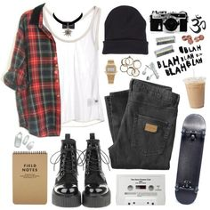 A fashion look from March 2013 featuring white see through tank top, Just Junkies and black booties. Browse and shop related looks. Teen Fashion Outfits, Grunge Outfits, Grunge Fashion, Tomboy Outfits, Fashion Women, Women's Fashion, Cute Rainy Day Outfits, Cool Outfits, Divas