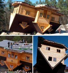 The Upside-Down House  Location: Szymbark, Poland