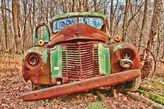 Rusty Old Green Truck