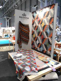 Maxhosa by Laduma / Karoo Looms - in New York 2015 Interiors, York, Blanket, Rugs, Bed, Farmhouse Rugs, Stream Bed, Decoration Home, Blankets
