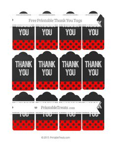 HAS MANY COLORS--PAGES-221-240--Free Red Polka Dot Thank You Tags on Chalkboard--- http://www.printabletreats.com/page/229/?s=Chalk+style+treat+bags&colorOptions&categoryOptions