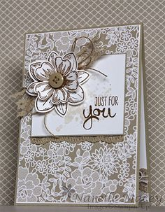 Stampin' Up! Something Lacy, Flower Shop