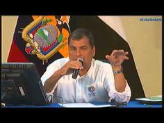 Presidente Rafael Correa en conversatorio con los medios de comunicación...