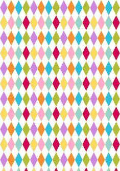 FREE printable harlequin pattern paper